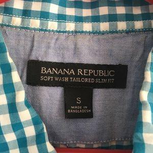 Men's Banana Republic slim fitting dressy shirt M